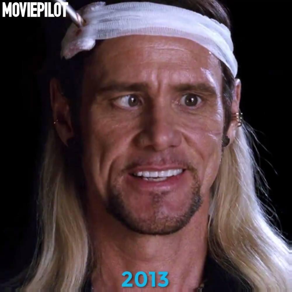 Jim Carrey během let