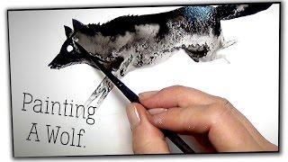 Trochu pokročilejší malování vodovkama (a inkoustem) :)