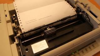 Totální nářez, Mozartova Malá noční hudba na jehličkové tiskárně