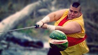 Živej fruit ninja v akci