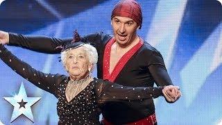 80letá tanečnice v Británie má talent